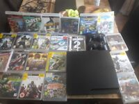 PS3 with 22games and 2 controllers