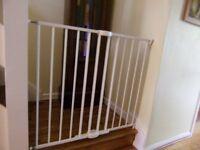 Stair-gate, white, Lindam, extending metal