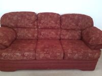 Red Fabric 3/4 Seater Sofa