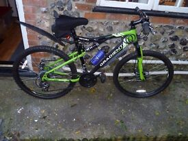 APOLLO GRADIENT 20 INCH, GREEN AND BLACK 21 SPEED MOUNTING BIKE