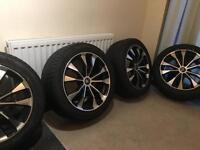 """Alloy wheels x 4 18"""" diamond 5 stud pcd 5/120 245/45zr18"""