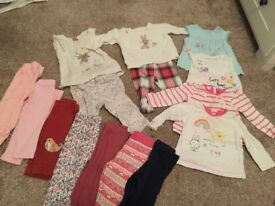 Baby leggings and tops & jumper 3-6 months
