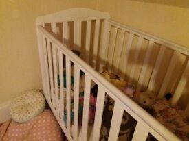 Motbercare darlington white cot for sale.