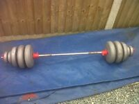 £20***WEIGHTS SET*****ST JAMES LANE CV33FU 138****CALLS ONLY !!