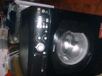 7KG HOTPOINT WASHING MACHINE (BLACK COLOUR)