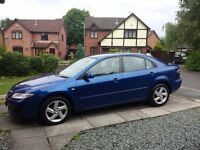 Mazda 6 Hatchback 2.0 TS petrol blue, hydrographic painted dash panel, blue engine cover