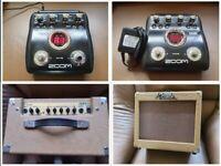 ZOOM G2 guitar multi effects processor + Nevada 25RG 25 watt amplifier