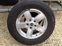 jeep commander grand cherokee 17 inch wheel and tyre part worn 245/65/17 m&s federal