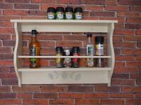Solid Soft Wood Spice and Condiment Rack