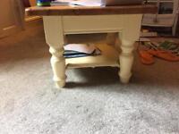 Cream wooden table