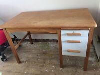 Solid wooden desk (part painted)