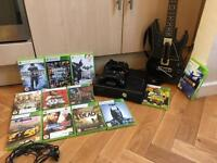 Xbox 360 250gb w/ 2 controllers 12 games