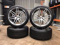 """21"""" Genuine Audi RS4 Alloys and Tyres - Audi Q7 ( 5x130 )"""