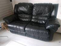 Leather Double recliner sofa