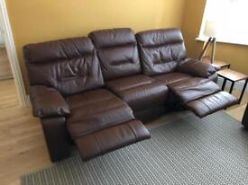 DFS 3 + 1 electric reclining sofa