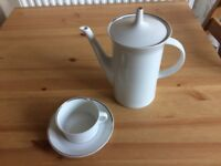 Rosenthal coffee pot with 8 cups and saucers