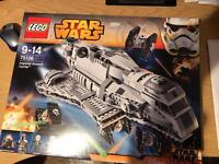 Lego Star Wars imperial assault carrier with all figures.