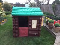 Little Tykes Log Cabin playhouse.