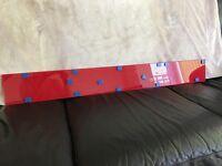 Red Galaxy Glass Splashback/Upstand 107cm x 13cm