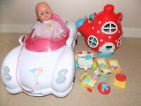 Girl toys bundle x 2 (car&doll + mouse house)