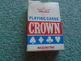 2 X PACKS OF C300 PLAYING CARDS & 1 X PACK OF WADDINGTON'S CROWN PLAYING CARDS