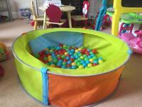 Baby/Toddler Ball pool and balls