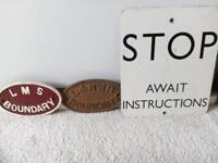 Railway Plaques & Sign - SOLD