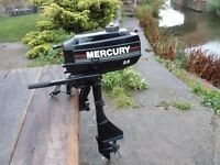 MERCURY 2,5HP SHORT SHAFT OUTBOARD BOAT MOTOR ENGINE