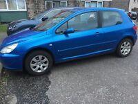 Peugeot 307 3 door 1.6 petrol £550