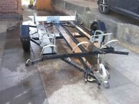 Motorcycle trailer for 1,2 or 3 bikes