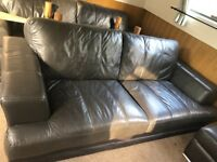 Two Leather Sofas Free Delivery to Reading Areas