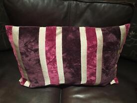 2 Large Purple Stripe Cushion Covers