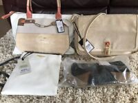 4 Handbags NEW WITH TAGS, Guess, Fiorelli, Dune, RocCobArcCo £60