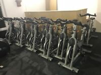 Commercial spin bikes in excellent condition.