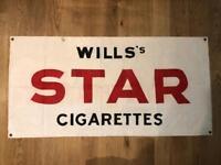 Vintage wills cigarette banner flag