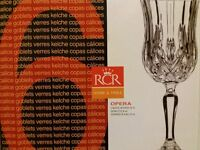RCR Goblets, Set of 6 (Brand New, Boxed).