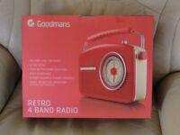"""NEW"" GOODMAANS RETRO RADIO'S (choice of colour)"