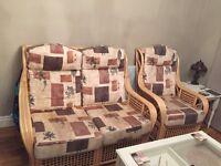 Cane coservatory furniture .