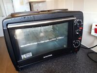 Salter 28l Mini Toaster Oven 1500w With 2 X Hotplate Hobs 1000w 100‒230oc Black