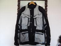 Hein Gericke Gortex Cordura Jacket, excellent condition UK 48; chest size.