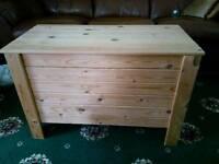 Large wooden children's storage box