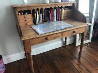 Children wooden desk in good condition