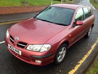 Rare! LOW MILEAGE!! 56k Only!! NISSAN ALMERA, 5 Drs, Long Mot, Full serv hist, 2 keys, must be seen!