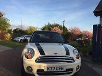 Mini Cooper Diesel 3Dr Hatch,Pepper white/black roof,mirrors,,Harman Kardon stereo.Must be seen!