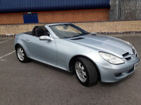 2007(57)MERCEDES SLK 200 KOMPRESSOR AUTOMATIC MET BLUE,LOW MILES,LEATHER,ELECTRIC ROOF,LOVELY CAR