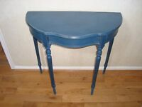 Shabby Chic Console, occasional, hallway table in Annie Sloan Aubusson Blue