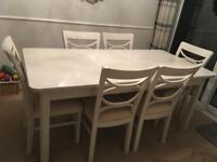 John Lewis Hampton extending dining table and six chairs
