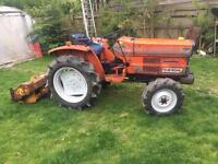 4x4 diesel tractor inc flail mower