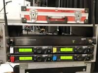 Shure ULX Wireless System w/ Antenna + Power Distro, 4 SM86 mics + MX153 Headset