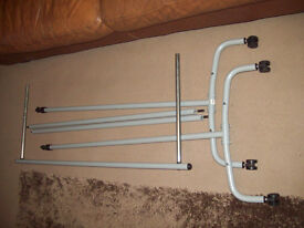 ikea very stong metal silver clothes rail, ideal home or car boot sale approx 6'x6'